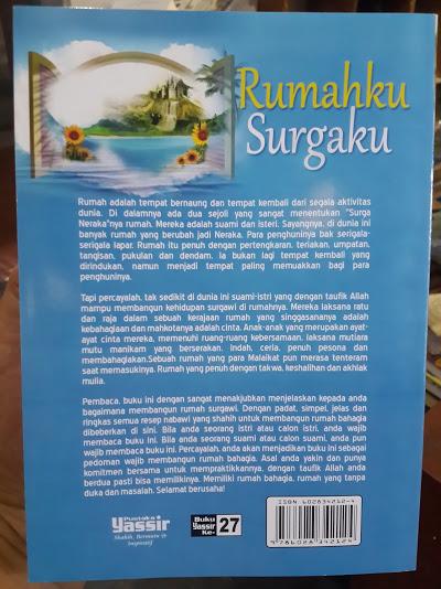 Buku Rumahku Surgaku Cover Belakang
