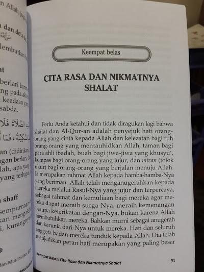 Buku Sebaik-Baik Amal Adalah Shalat Isi