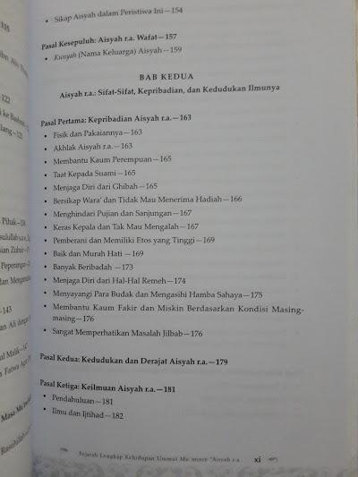 Buku Sejarah Lengkap Kehidupan Ummul Mu'minin Aisyah Isi
