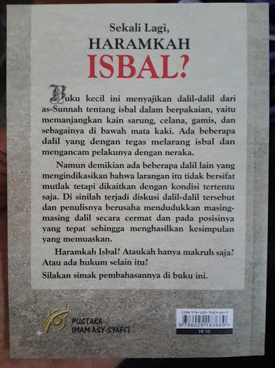 Buku Saku Sekali Lagi Haramkah Isbal Cover Belakang