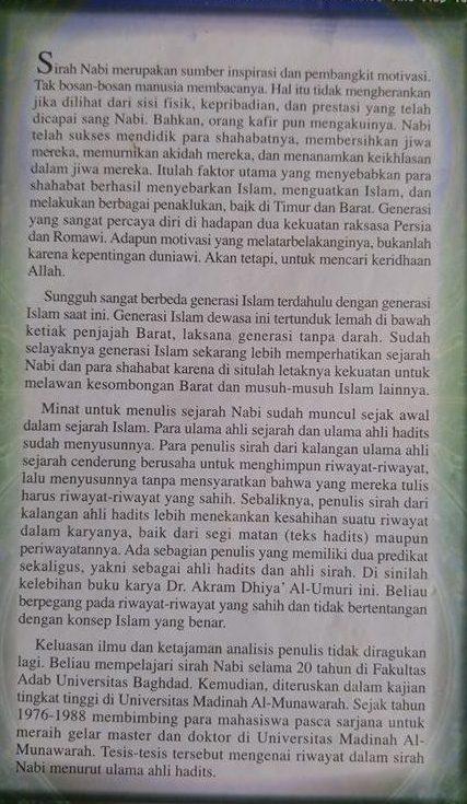 Buku Seleksi Sirah Nabawiyah Studi Kritis Terhadap Riwayat Cover 2