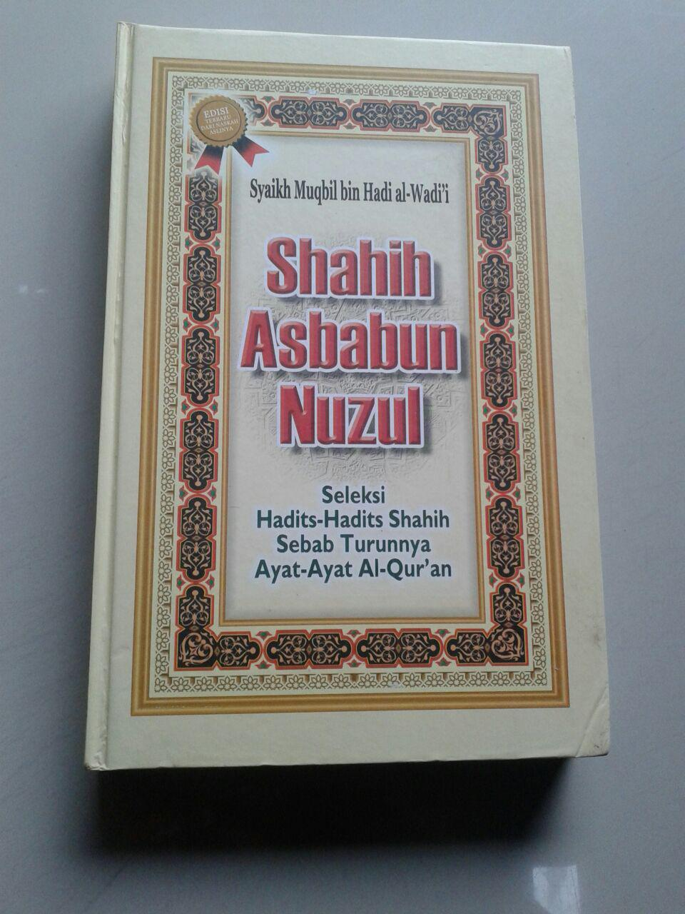 Buku Shahih Asbabun Nuzul Hadits Hadits Sebab Turunnya Ayat cover 2