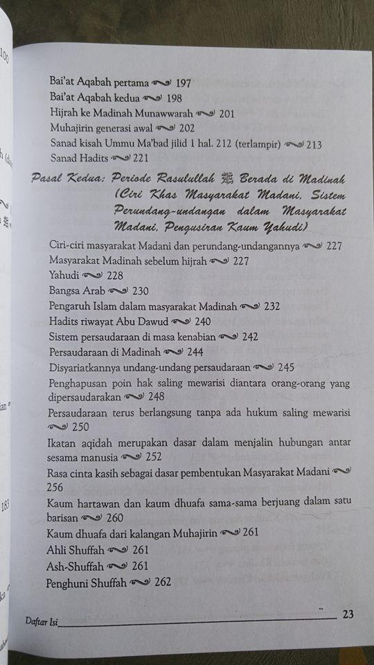 Buku Shahih Sirah Nabawiyah Daftar Isi