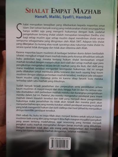 Buku Shalat Empat Mazhab Disertai Dalil-Dalil Cover 2