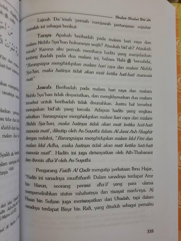Buku Shalat Shalat Bid'ah Isi