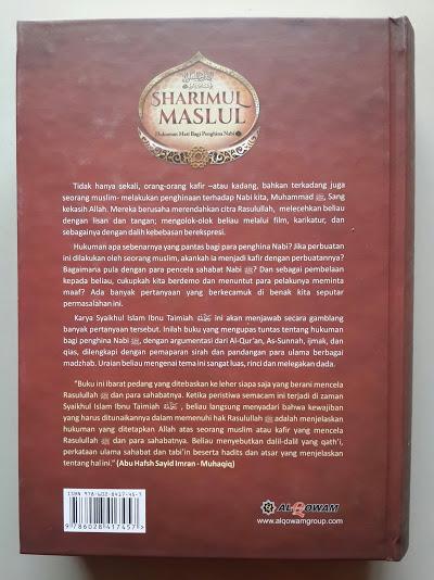 Buku Sharimul Maslul Hukuman Mati Bagi Penghina Nabi Cover Belakang