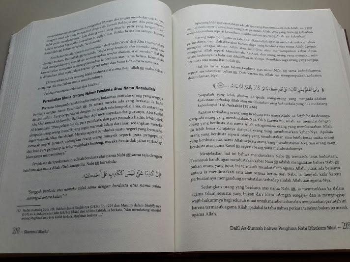 Buku Sharimul Maslul Hukuman Mati Bagi Penghina Nabi Isi
