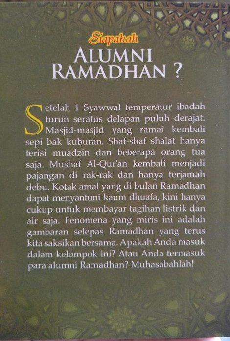 siapakah alumni ramadhan buku cover 2