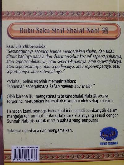 Buku Saku Sifat Shalat Nabi Oleh Syaikh Albani Cover 2