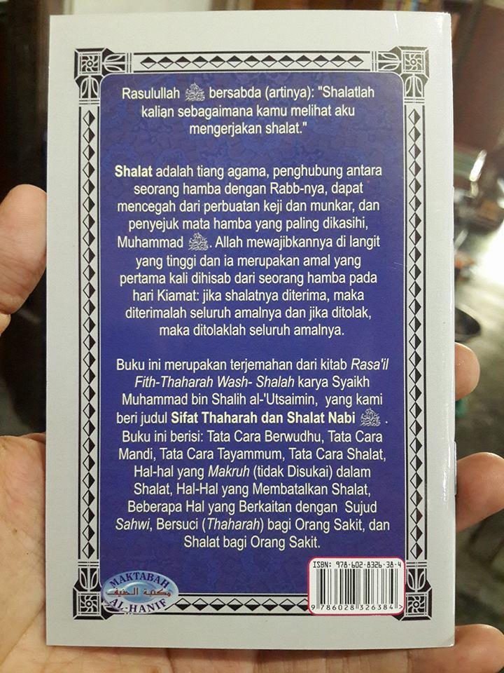 Buku Sifat Thaharah dan Shalat NabiBuku Sifat Thaharah dan Shalat Nabi Cover 2