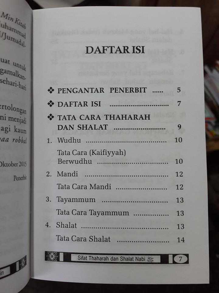 Buku Sifat Thaharah dan Shalat NabiBuku Sifat Thaharah dan Shalat Nabi isi 2