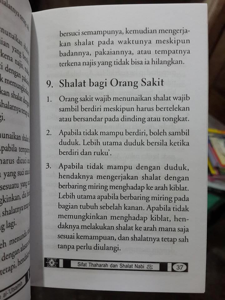 Buku Sifat Thaharah dan Shalat NabiBuku Sifat Thaharah dan Shalat Nabi isi