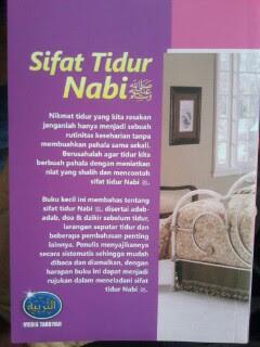 Buku Sifat Tidur Nabi Cover Belakang