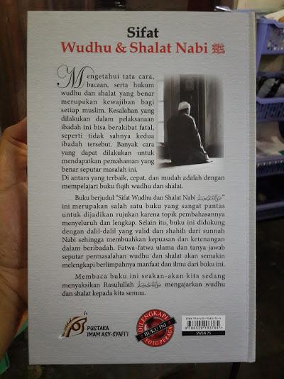 Buku Sifat Wudhu Dan Shalat Nabi Cover Belakang