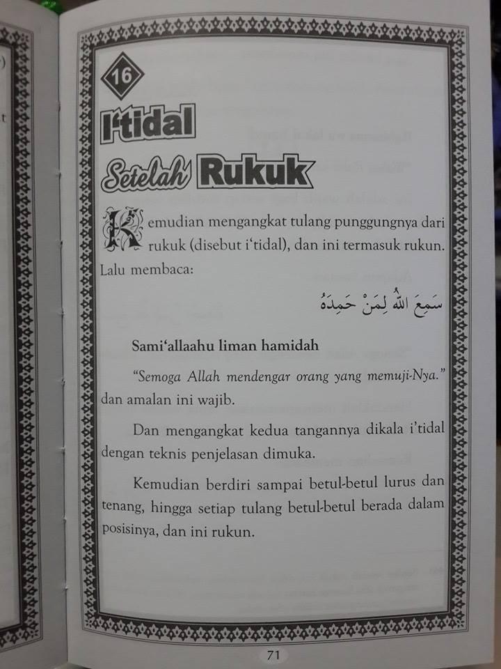 Buku Sifat Shalat Dan Wudhu Nabi Plus Gambar Peraga Isi