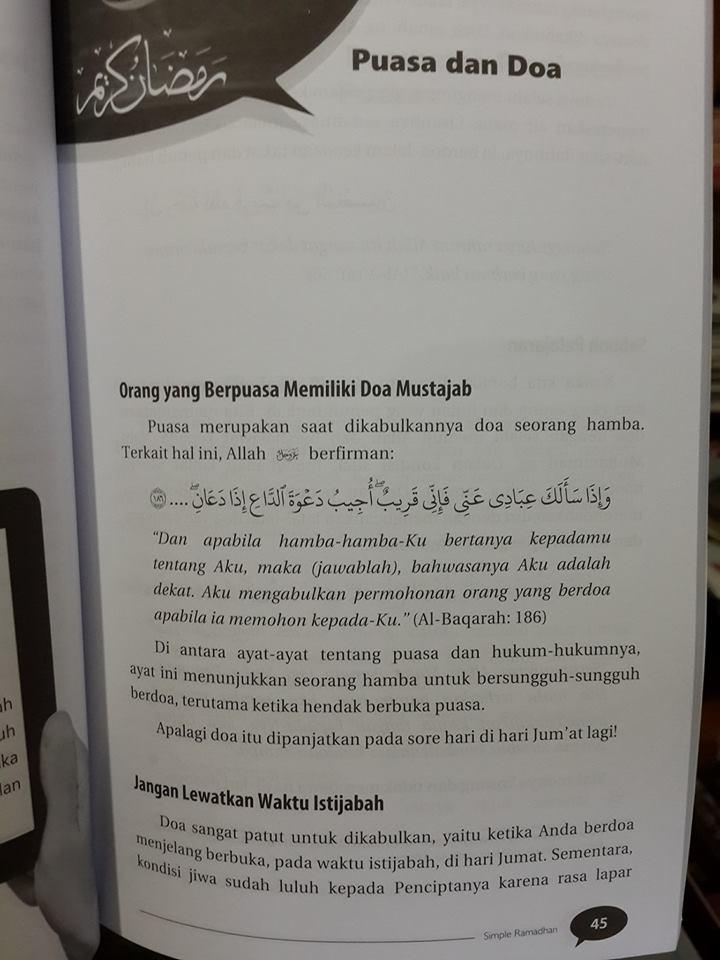 Buku Simple Ramadhan Materi Praktis Ramadhan Isi 2