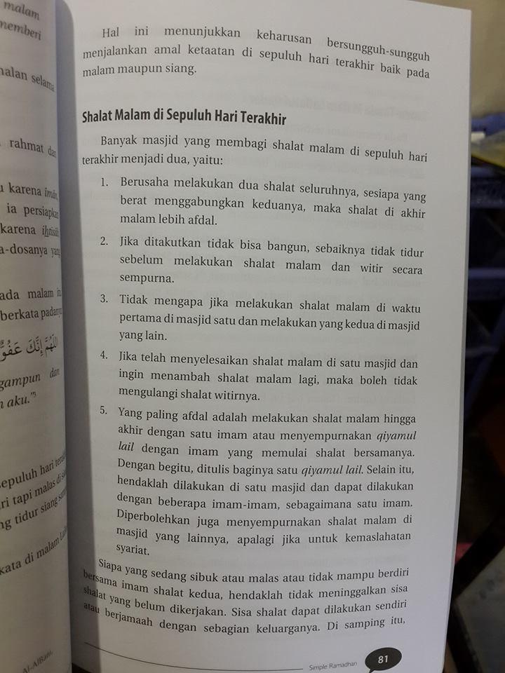 Buku Simple Ramadhan Materi Praktis Ramadhan Isi