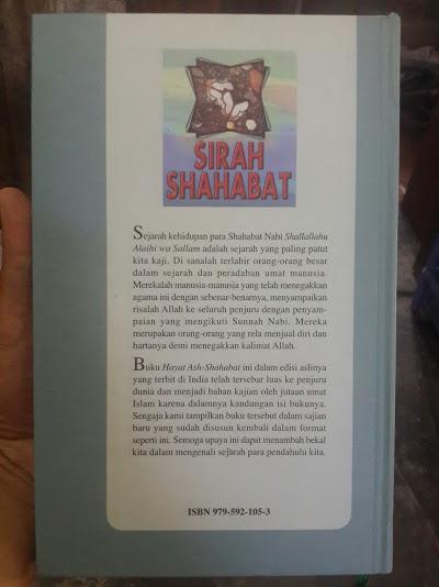 Buku Sirah Shahabat Keteladanan Orang Di Sekitar Nabi Cover Belakang