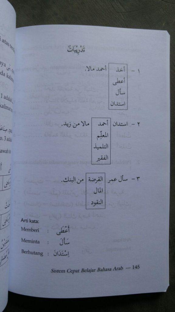 Buku Sistem Cepat Belajar Bahasa Arab isi