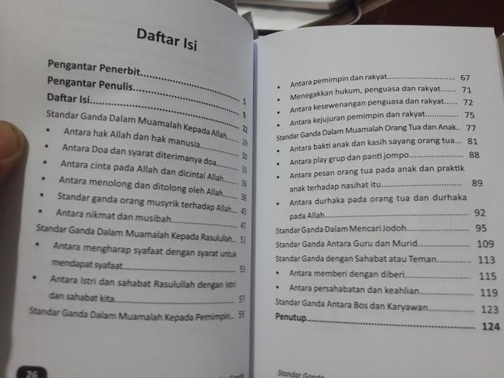 Buku Standar Ganda Membuka Kacamata Keadilan Muslim Daftar Isi