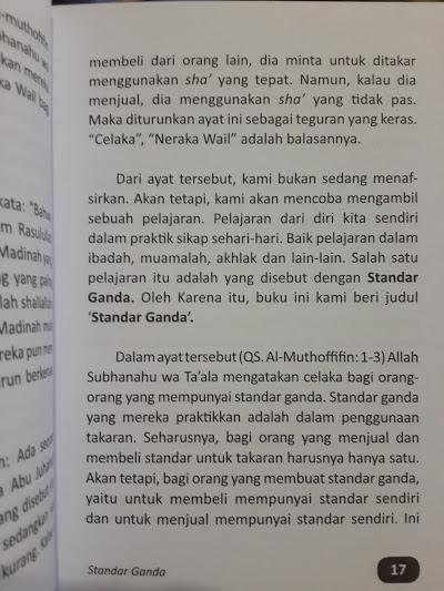 Buku Standar Ganda Membuka Kacamata Keadilan Muslim Isi