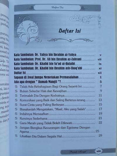 Buku Suami Istri Dalam Rumah Mungil Penuh Bahagia Daftar Isi