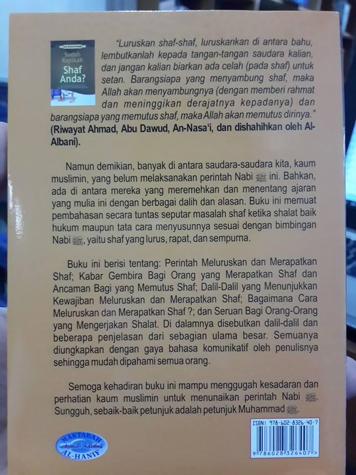 Buku Saku Sudah Rapikan Shaf Shalat Anda Cover 2