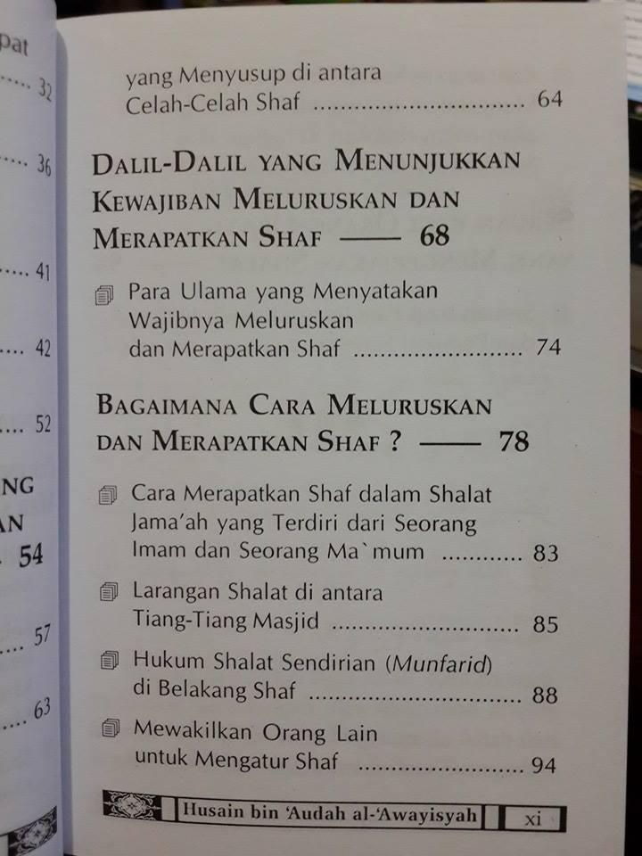 Buku Saku Sudah Rapikan Shaf Shalat Anda Daftar Isi
