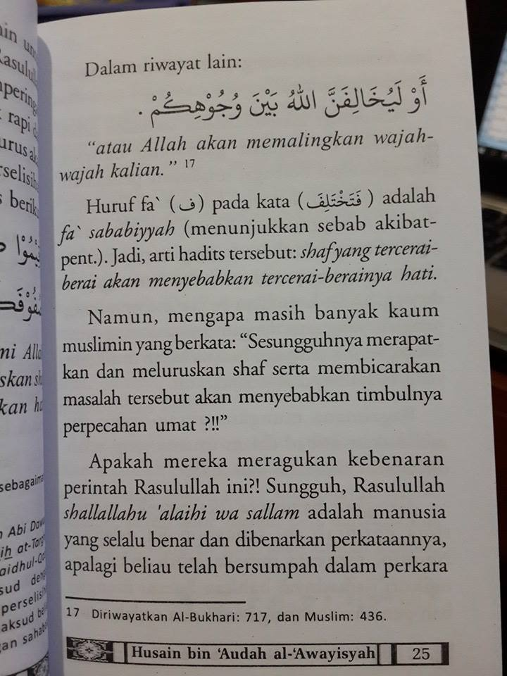 Buku Saku Sudah Rapikan Shaf Shalat Anda Isi