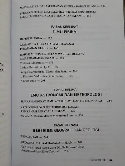 Buku Sumbangan Pengetahuan Islam Pada Dunia Daftar Isi