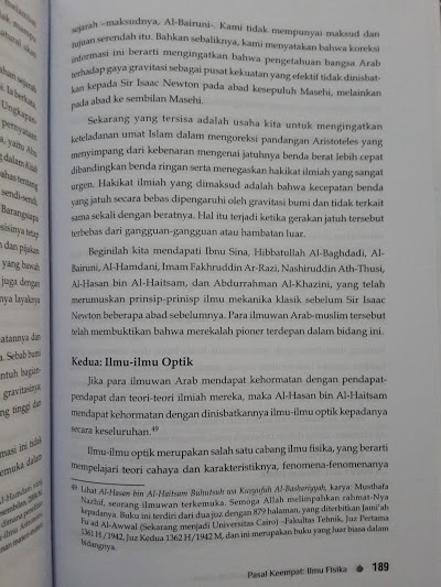 Buku Sumbangan Pengetahuan Islam Pada Dunia Isi