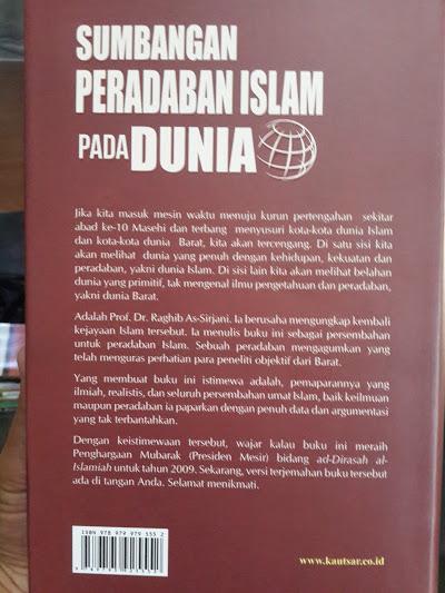 Buku Sumbangan Peradaban Islam Pada Dunia Cover 2