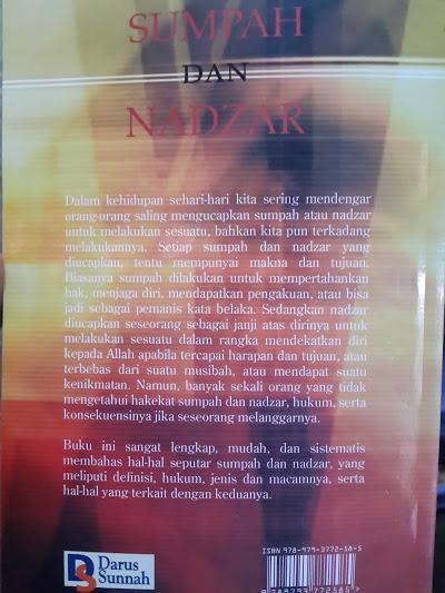 Buku Sumpah Dan Nadzar Cover Belakang