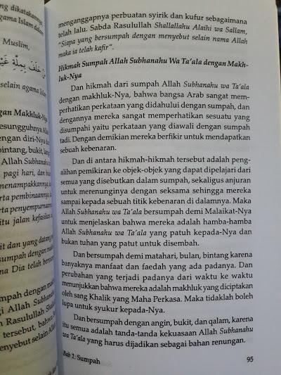 Buku Sumpah Dan Nadzar Isi