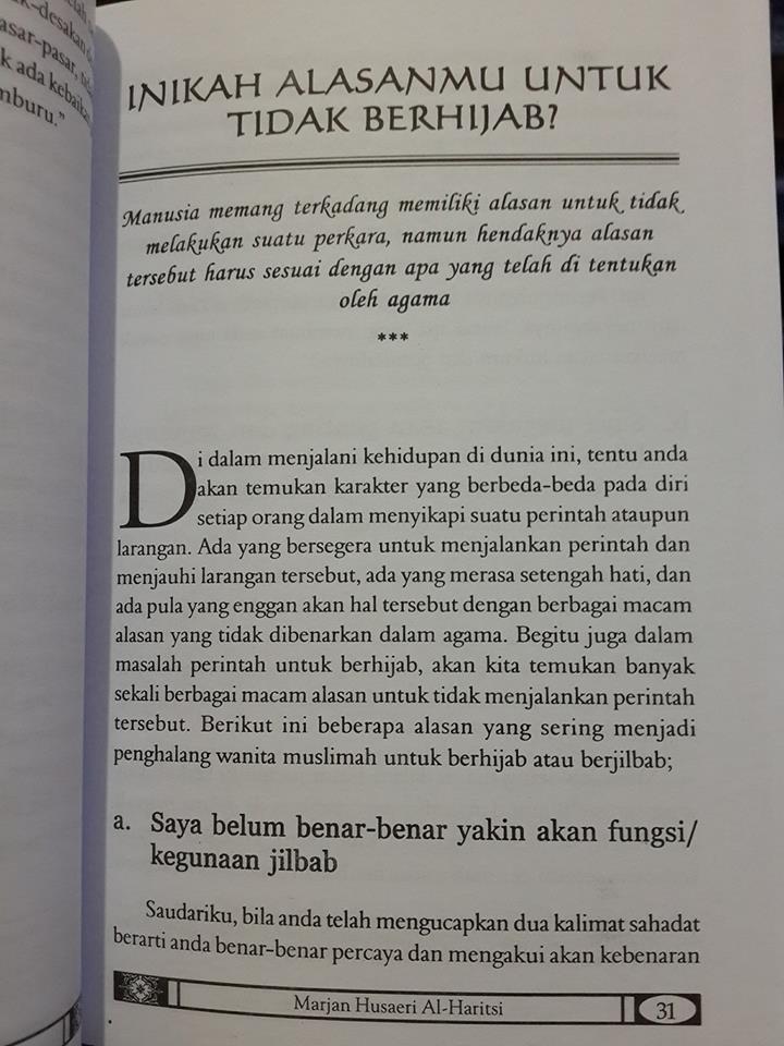Buku Sungguh Engkau Lebih Cantik Dengan Hijab Isi