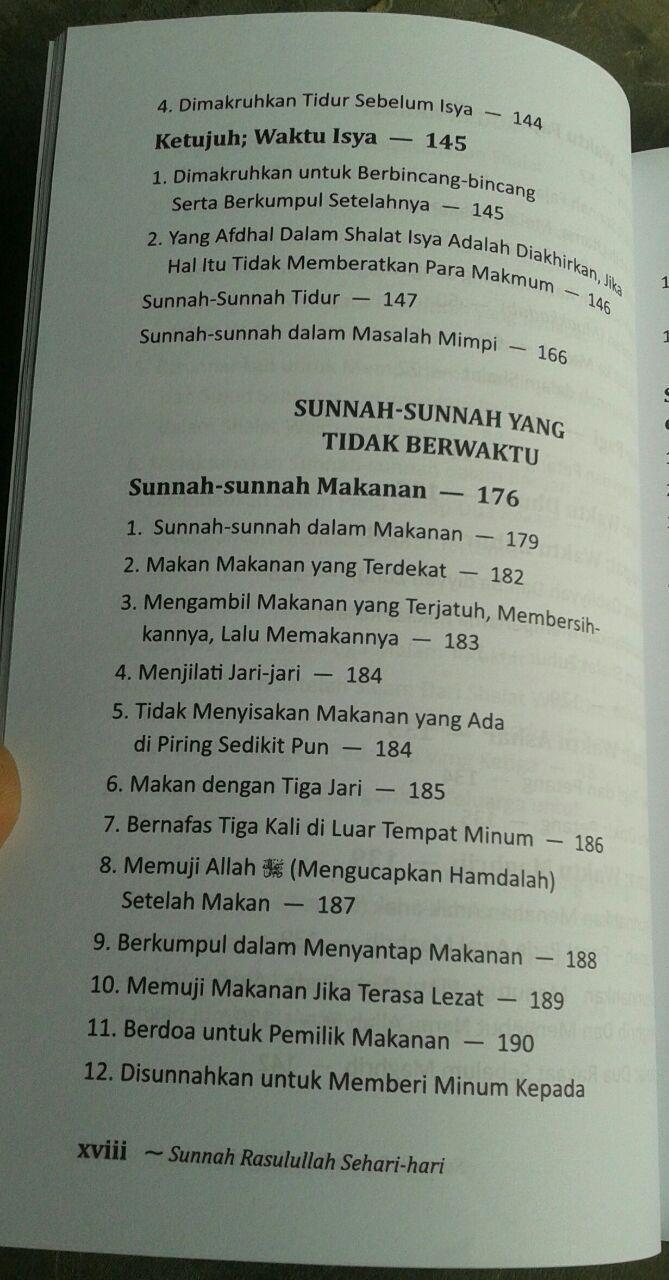 Buku Sunnah Rasulullah Sehari Hari isi