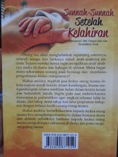 Buku Sunnah-Sunnah Setelah Kelahiran Cover Belakang