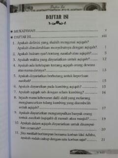 Buku Sunnah-Sunnah Setelah Kelahiran Daftar Isi