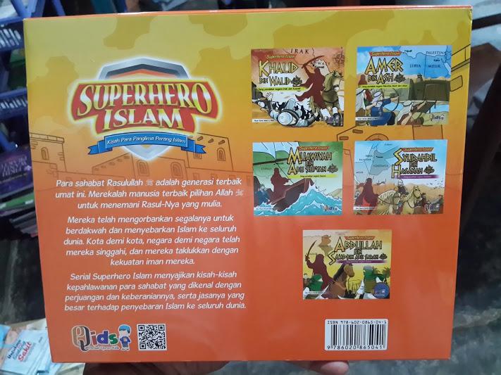 Buku Anak Superhero Islam Kisah Para Panglima Perang Islam Cover 2