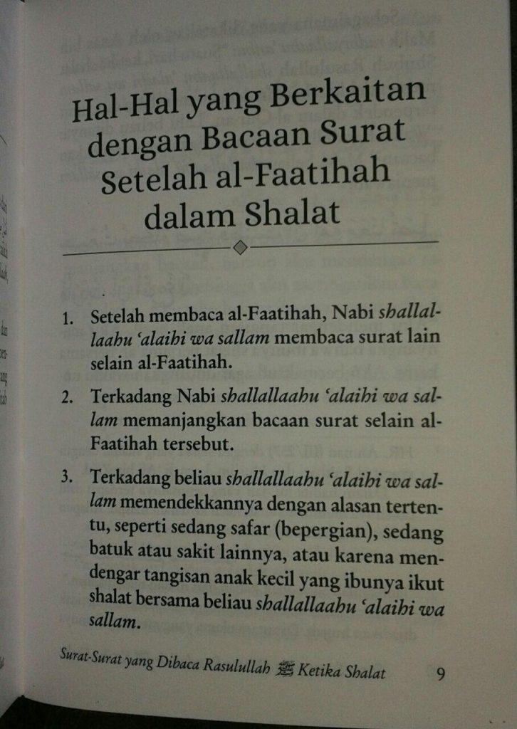 Buku Saku Surat Surat Yang Dibaca Rasulullah Ketika Shalat isi 2