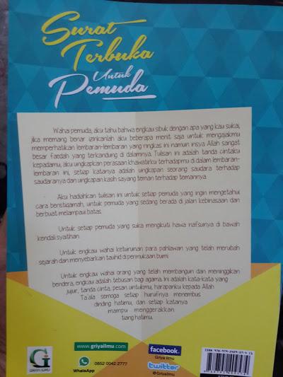 Buku Surat Terbuka Untuk Pemuda Untai Nasihat Untuk Pemuda Cover 2