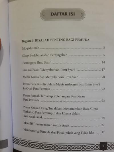 Buku Surat Terbuka Untuk Pemuda Untai Nasihat Untuk Pemuda Daftar Isi