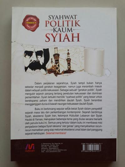 Buku Syahwat Politik Kaum Syiah Cover Belakang