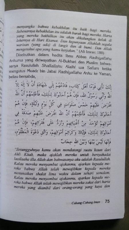 Buku Syarah 77 Cabang Iman isi 2
