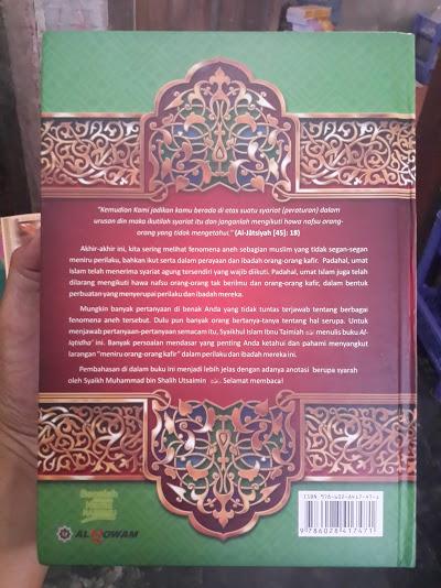 Buku Syarah Al-Iqtidha Meniti Shirathal Mustaqim Cover Belakang