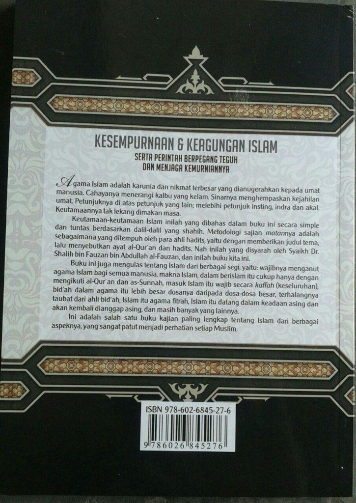 Buku Syarah Fadhlul Islam Kesempurnaan & Keagungan Islam cover