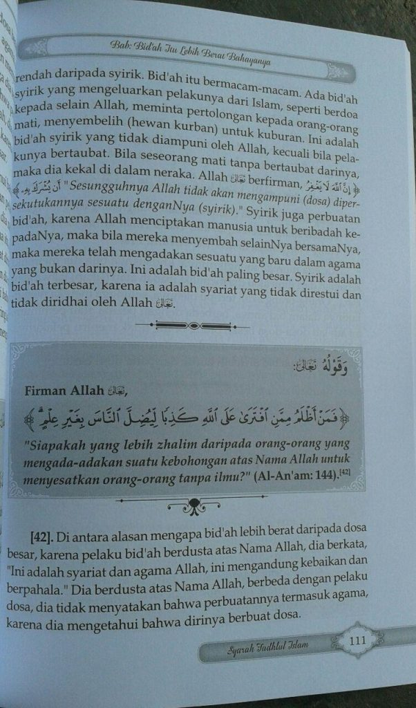 Buku Syarah Fadhlul Islam Kesempurnaan & Keagungan Islam isi 4