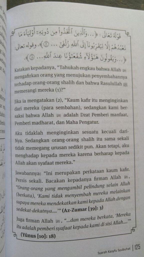 Buku Syarah Kasfu Syubhat Membantah Syubhat Persoalan Tauhid isi 2