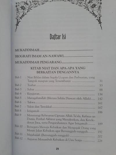 Buku Syarah Ringkas Riyadhus Shalihin Daftar Isi