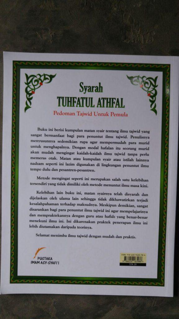 Buku Syarah Tuhfatul Athfal Pedoman Tajwid Untuk Pemula cover